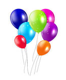 Set of Colored Balloons, Vector Illustration Stock Images