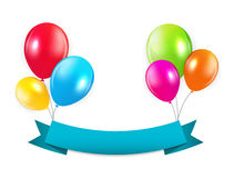Set of Colored Balloons, Vector Illustration Stock Photos