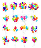 Set of Colored Balloons, Vector Illustration Royalty Free Stock Photos