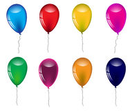 Set of colored balloons on a white background.Vector Royalty Free Stock Image