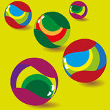 Set of colored balls vector illustration Royalty Free Stock Photography