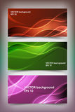 Set of colored banner templates. Royalty Free Stock Photography