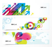Set of colored banners. Vector art Stock Image