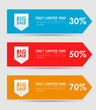 Set of colored banners for sale Royalty Free Stock Images