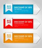 Set of colored banners for sale Royalty Free Stock Photos