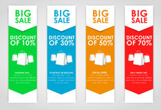 Set of colored banners for sale Royalty Free Stock Photography
