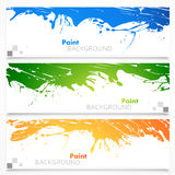 Set of colored banners Stock Photos