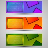 Set of colored banners template.Concept design stock photo