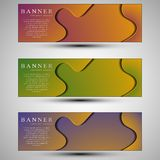 Set of colored banners template.Concept design royalty free stock photography