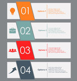 Set of colored banners Royalty Free Stock Images