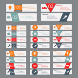 Set of colored banners Royalty Free Stock Photography
