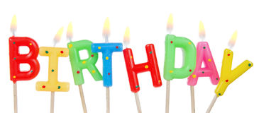 Set of colored birthday candles Royalty Free Stock Image