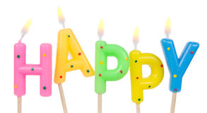Set of colored birthday candles Stock Images