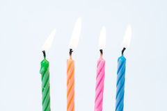 Set of colored birthday candles royalty free stock photo