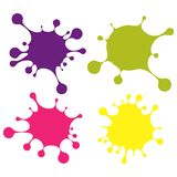 Set of colored blobs Stock Images