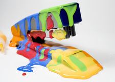 Set of colored blot on stapler. With tubes Stock Photography