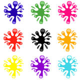 Set of colored blots. On the white background Royalty Free Stock Image