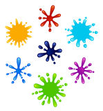 Set of colored blots. On a white background Stock Image
