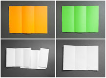 Set of colored booklets Royalty Free Stock Photo