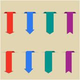 Set of colored bookmarks, vector illustration. Royalty Free Stock Photography