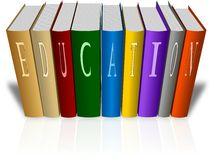 Set of colored books with word Education Royalty Free Stock Images