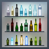Set of colored bottles Stock Images