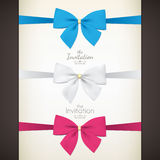 Set of colored bow Stock Photography