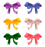 Set of colored bows. Set of colored with gradient mesh bows Royalty Free Stock Photos