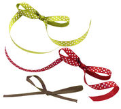 Set of colored bows Royalty Free Stock Photography