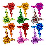 Set of colored bows. Illustration Stock Photo