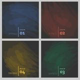 Set of colored brush strokes colorful paints Royalty Free Stock Photo