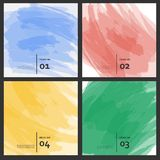 Set of colored brush strokes colorful paints Royalty Free Stock Images