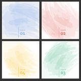 Set of colored brush strokes colorful paints Stock Photo