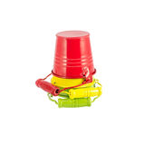 Set of colored buckets Stock Image