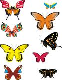 Set of colored butterflies Royalty Free Stock Photography
