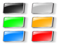 Set of colored buttons Stock Photos