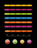 Set of colored buttons. Royalty Free Stock Photo