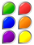 Set of colored buttons Royalty Free Stock Photos
