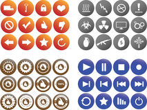 Set of colored buttons Stock Image