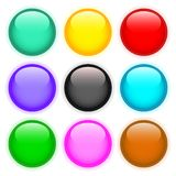 Set of colored buttons Royalty Free Stock Image