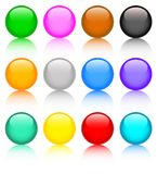 Set of colored buttons Stock Images
