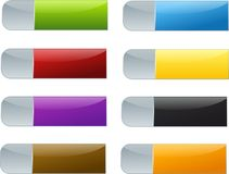 Set of colored buttons Royalty Free Stock Photo