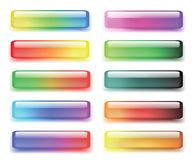 Set of colored buttons Stock Photography