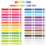 Set of colored buttons Royalty Free Stock Photography
