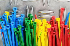 Set colored cable ties Royalty Free Stock Photography