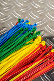 Set colored cable ties Stock Photos