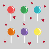 The set of colored candies delicious. Set of colored candies delicious Stock Photography