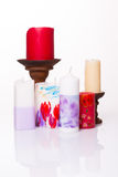 Set of colored candles Stock Image