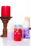 Set of colored candles Royalty Free Stock Photography