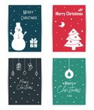 A set of colored Christmas cards. Royalty Free Stock Photos